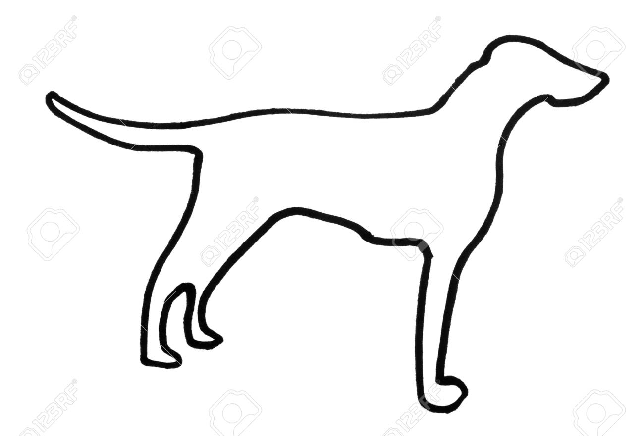 Dog Outline Stock Photos Images. Royalty Free Dog Outline Images ...
