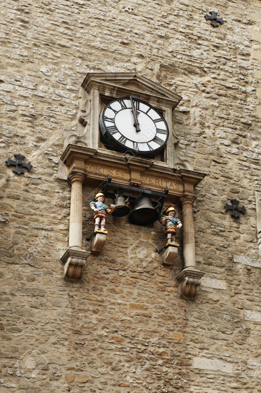 Low angle view of a clock tower, Carfax Tower, Oxford, Oxfordshire, England - 10234049