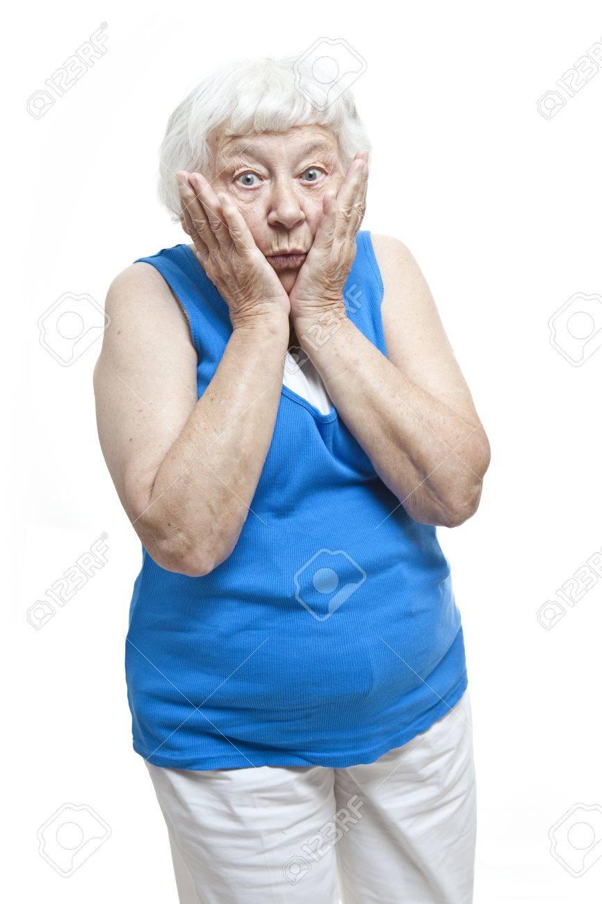 Disbelief senior woman portrait Stock Photo - 11133995
