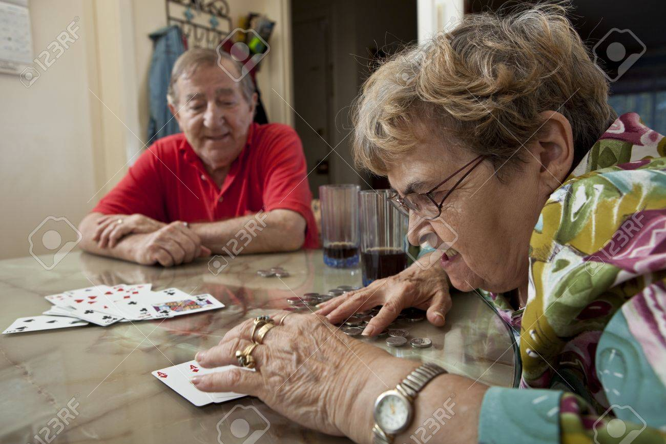 Seniors playing cards Stock Photo - 11134016