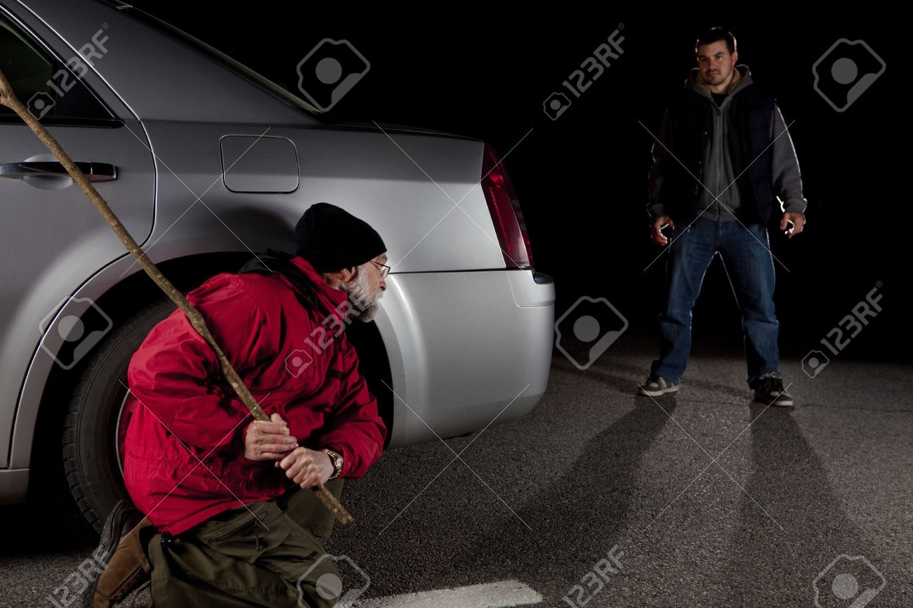 Stalker and victim Stock Photo - 11552024