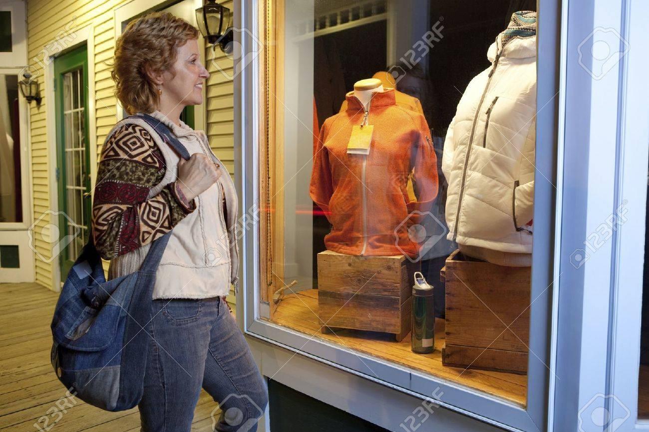Woman window shopping Stock Photo - 11677280