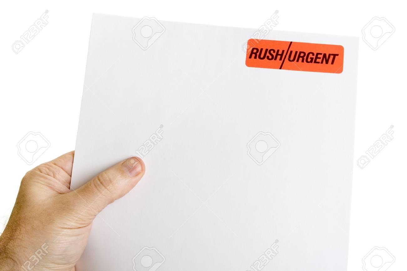 Urgent letter Stock Photo - 11677245