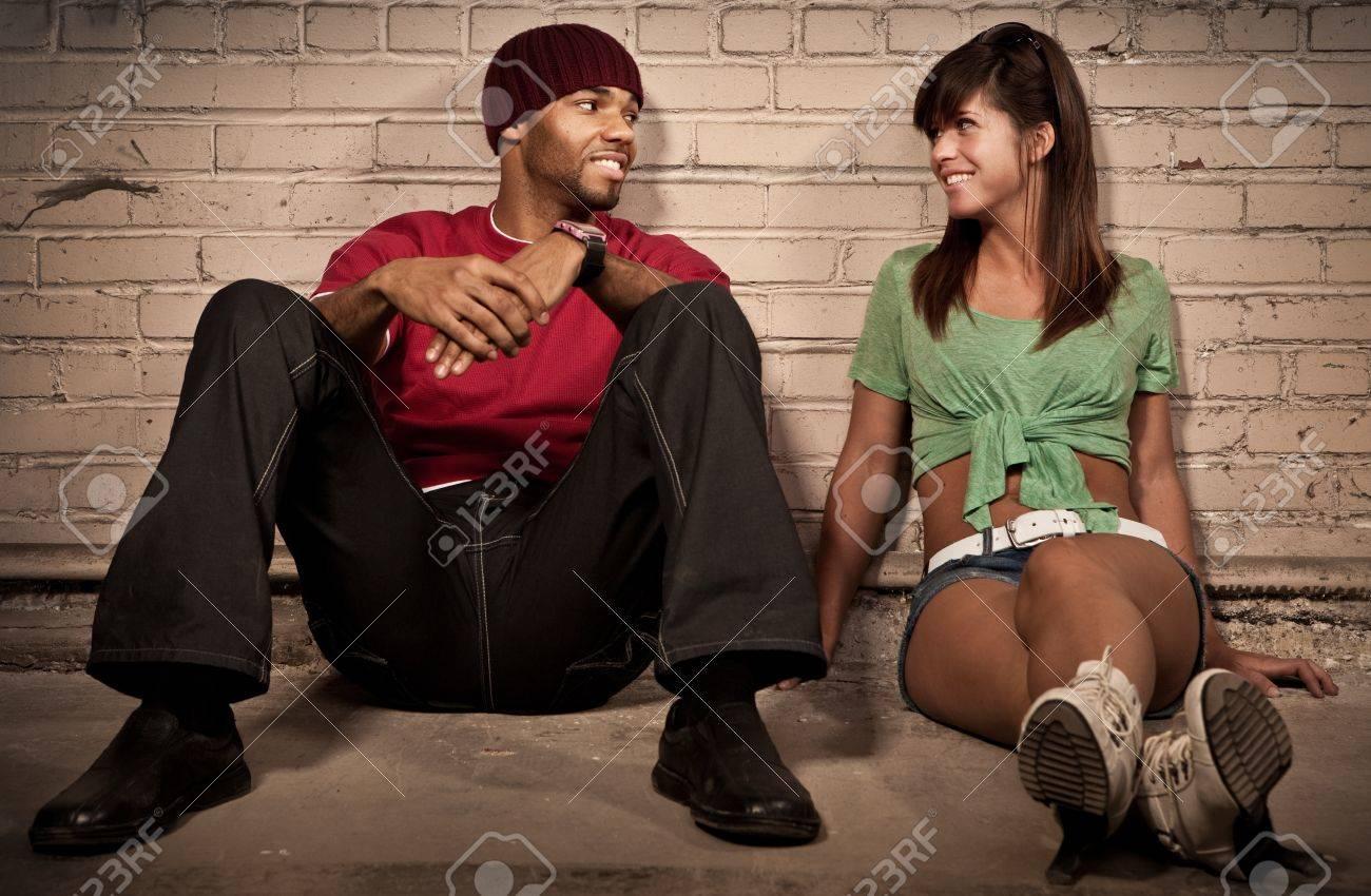 Night Couple Portrait - Sitting Stock Photo - 11700095
