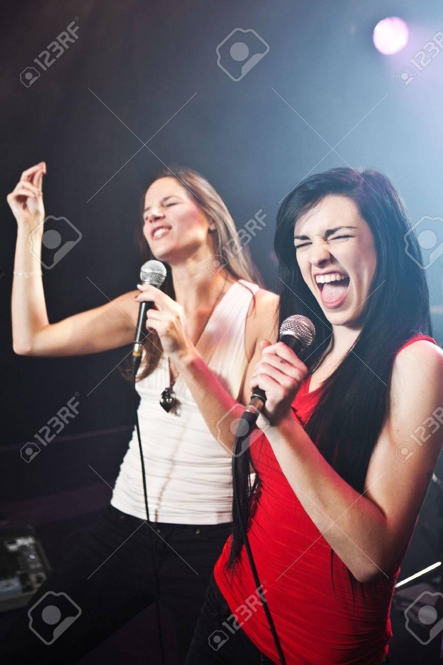 Female singers performing Stock Photo - 12639840