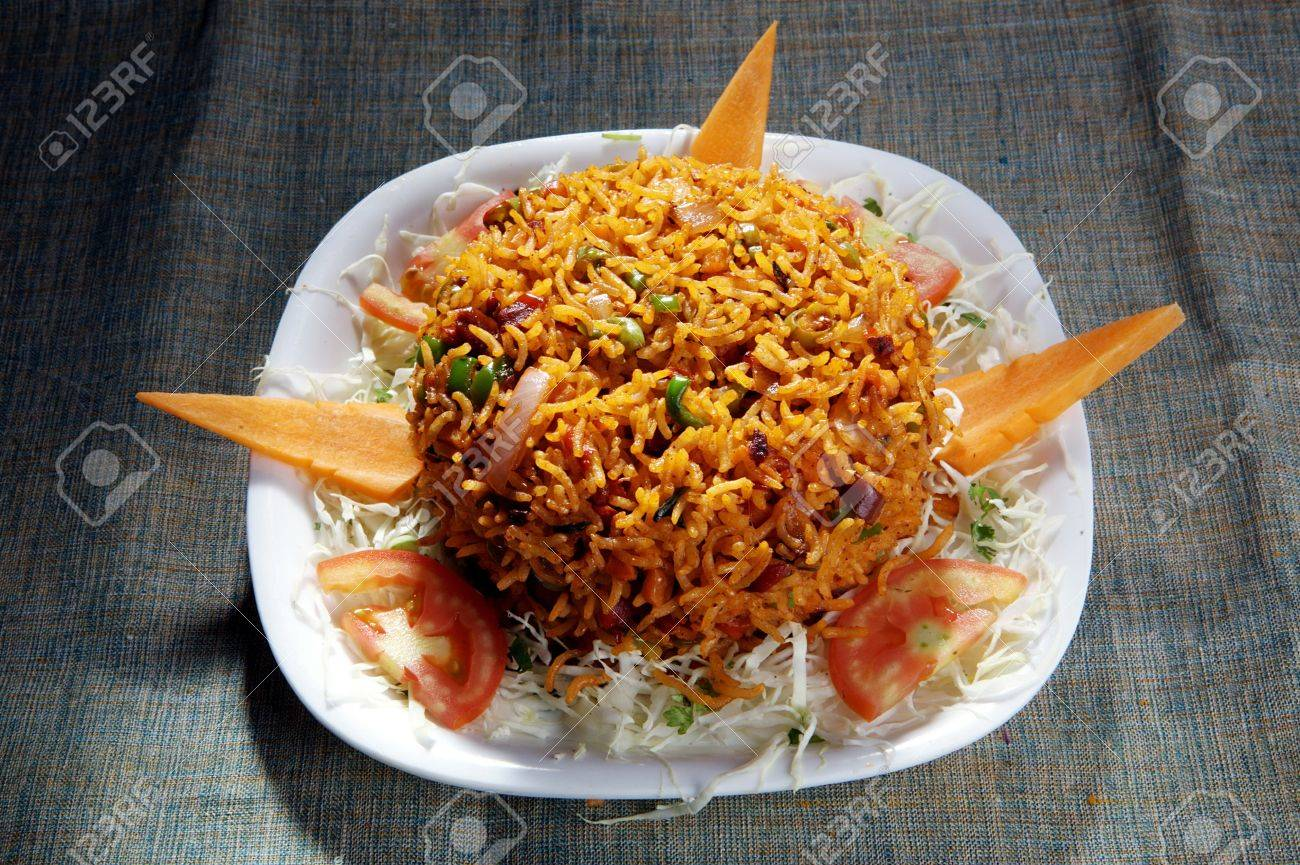 Indian dish pulav Rice  with vegetables Stock Photo - 17327341