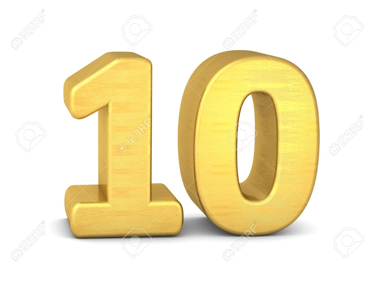 3d Number 10 Gold Stock Photo, Picture And Royalty Free Image ...