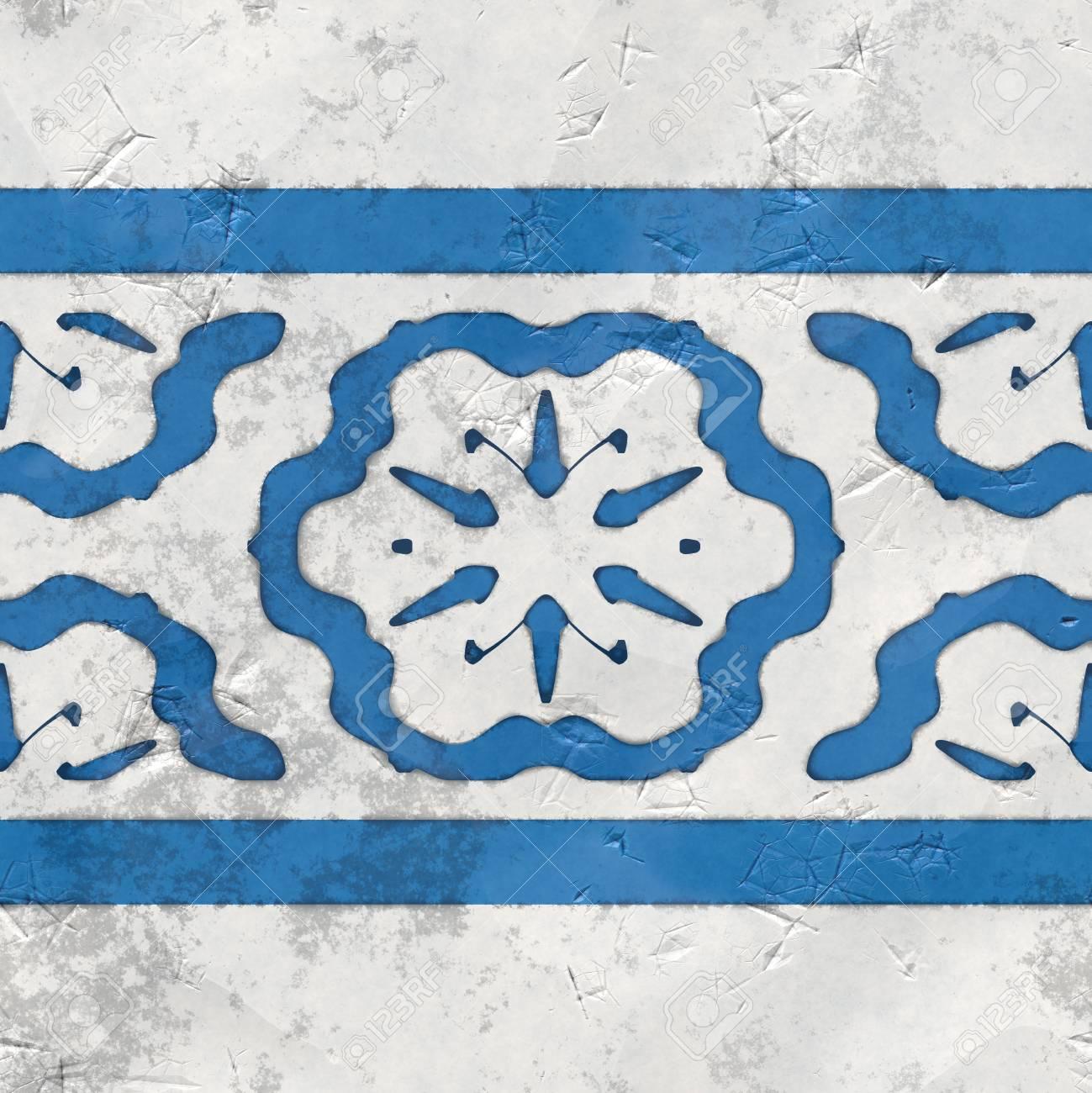 Orientalische Fliesen Blau Weiss Nahtlose Lizenzfreie Fotos Bilder
