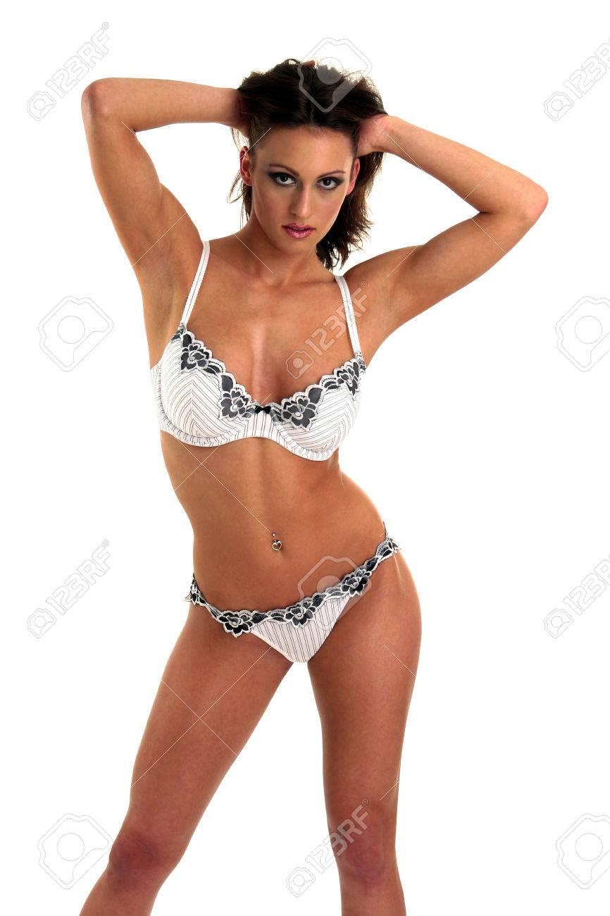 Blanco Con Y Sosteniendo Una Sus Su En Bikini Negro Cabello Mujer Manos 0kN8nwOXPZ