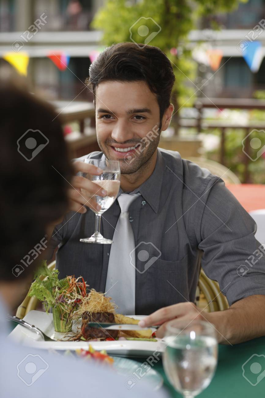 Businessmen having lunch at a restaurant Stock Photo - 6925058