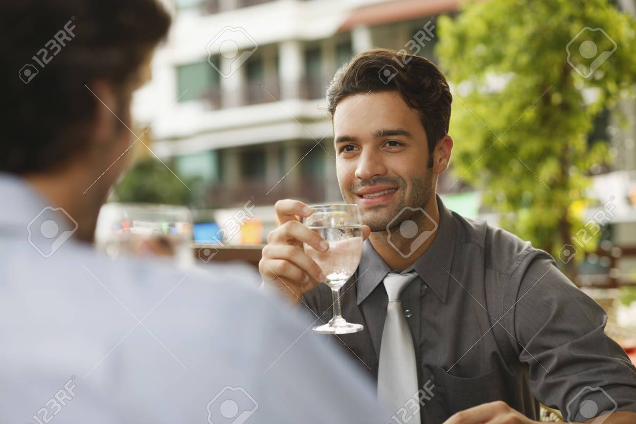Businessmen drinking water Stock Photo - 6925055