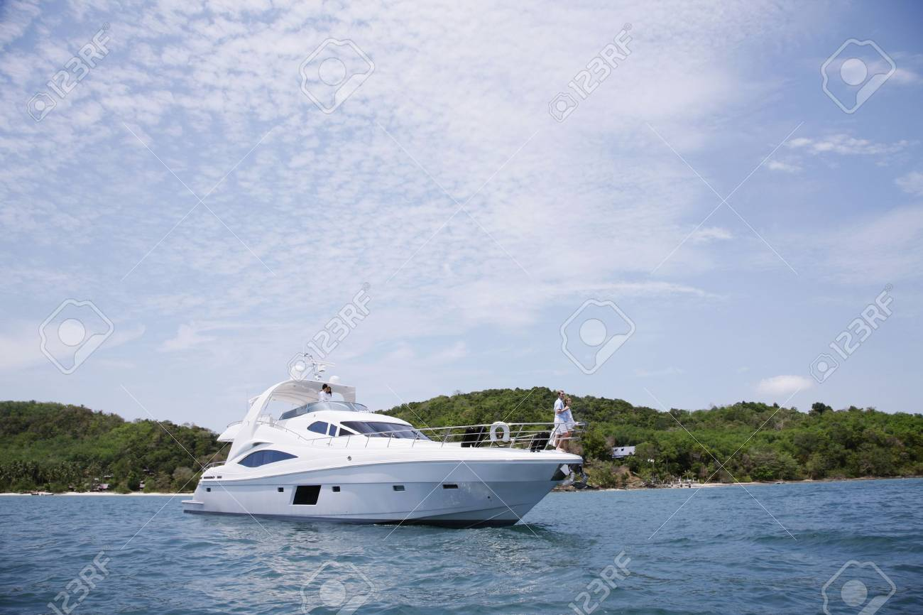 Two couples on yacht Stock Photo - 7362309