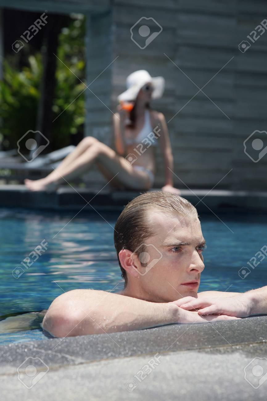 Man in swimming pool Stock Photo - 7362265
