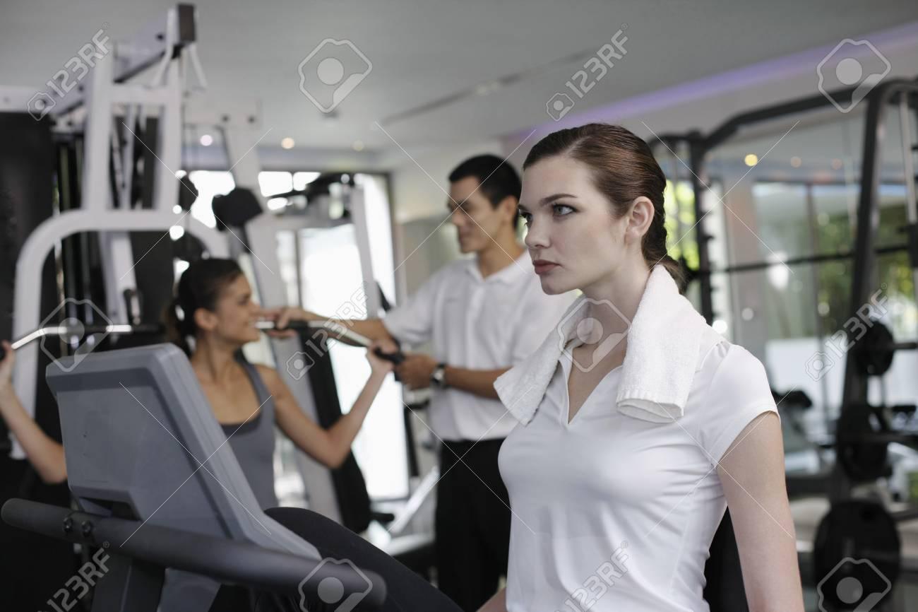 Women exercising in the gymnasium Stock Photo - 7446149