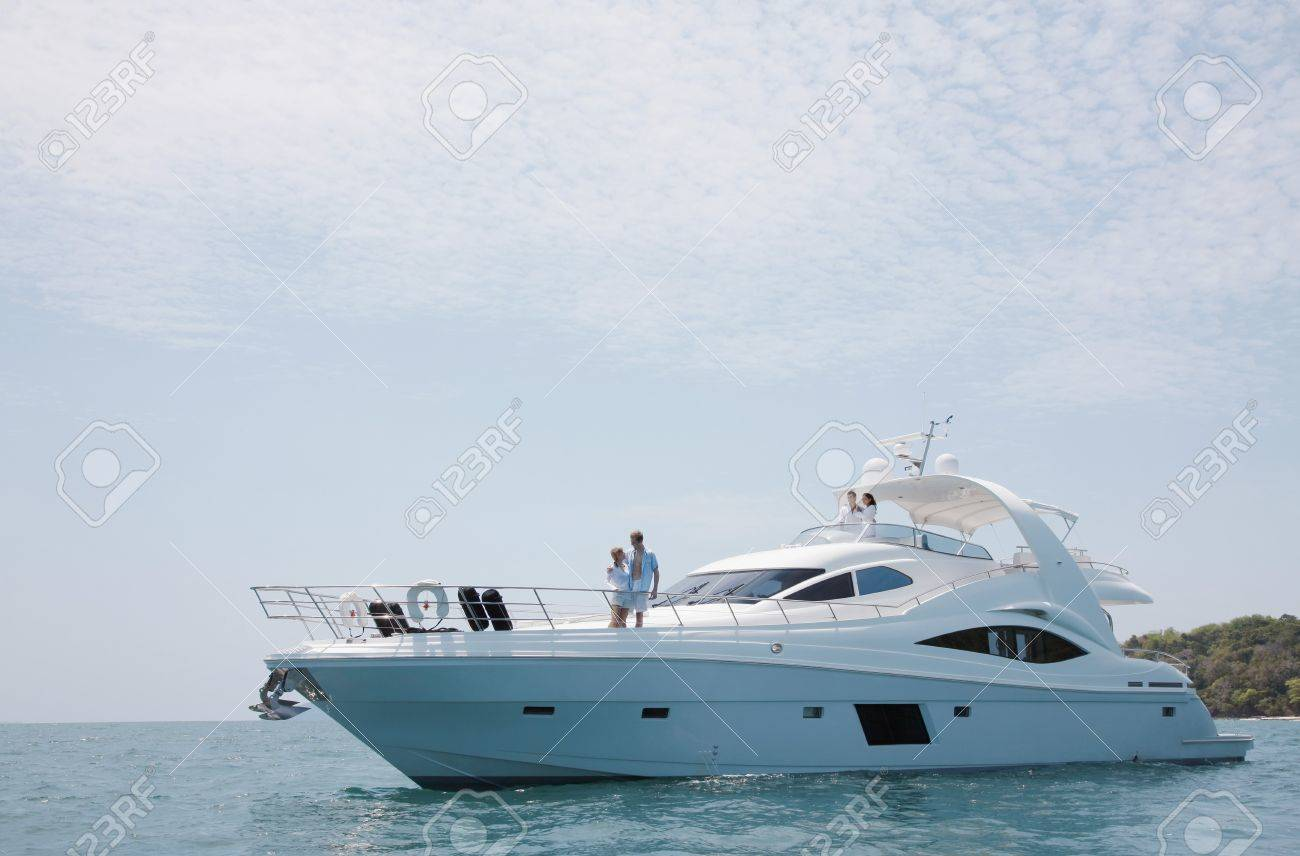 Two couples on yacht Stock Photo - 7445912