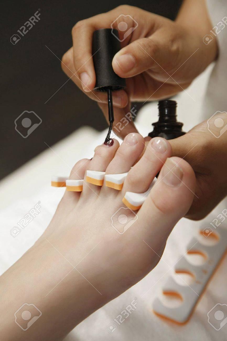 Woman receiving pedicure Stock Photo - 7534491