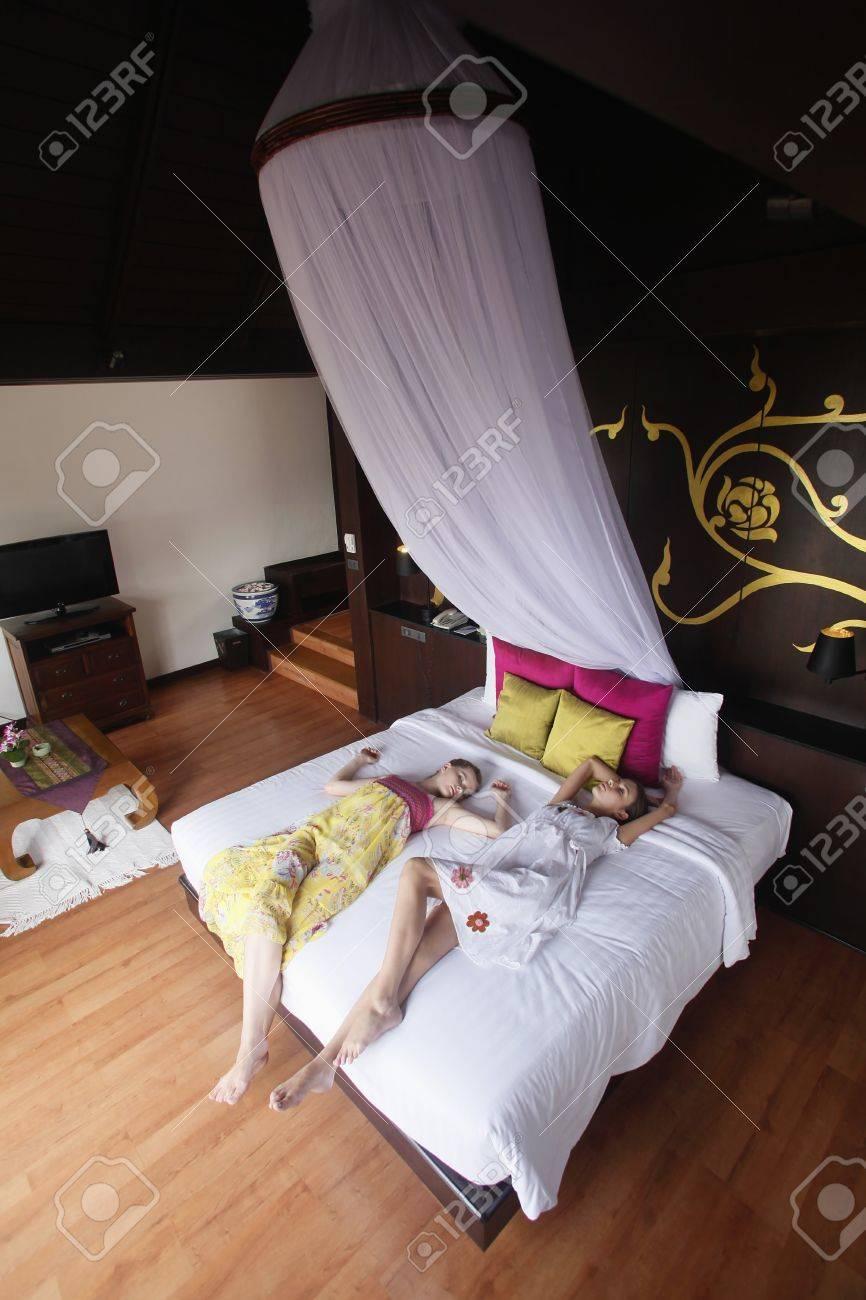 Women sleeping on bed Stock Photo - 7594926