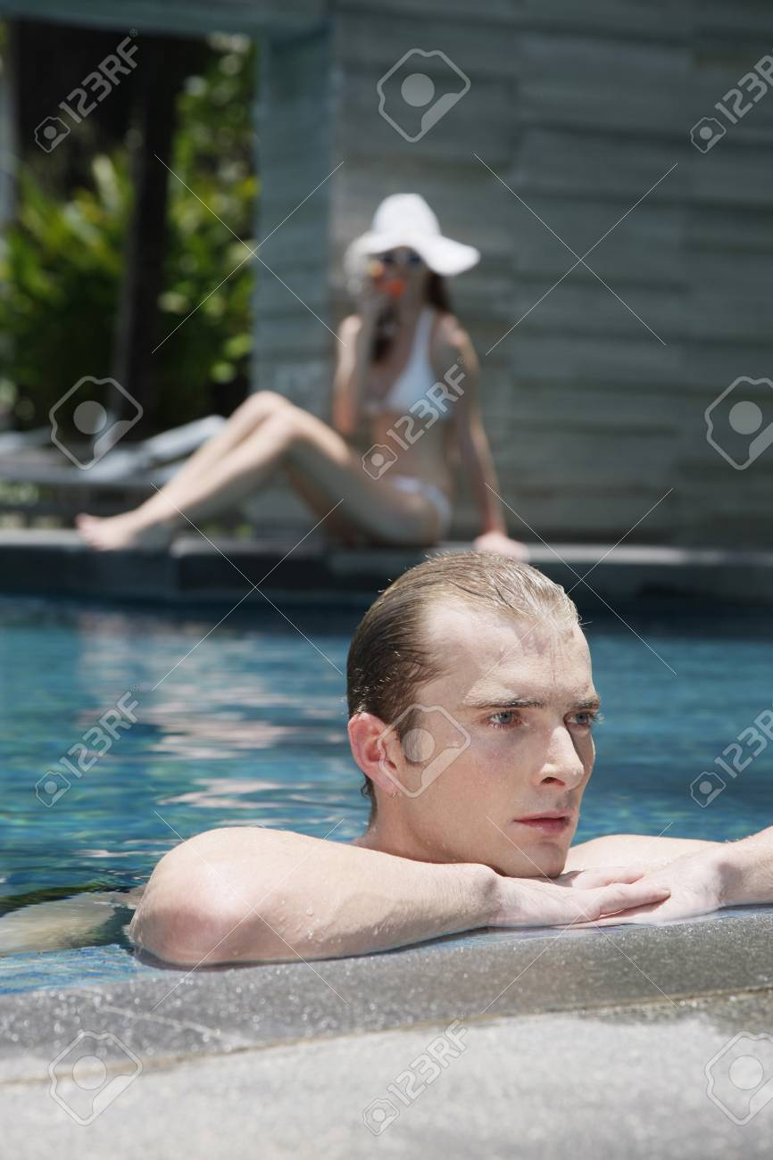 Man in swimming pool Stock Photo - 7643980
