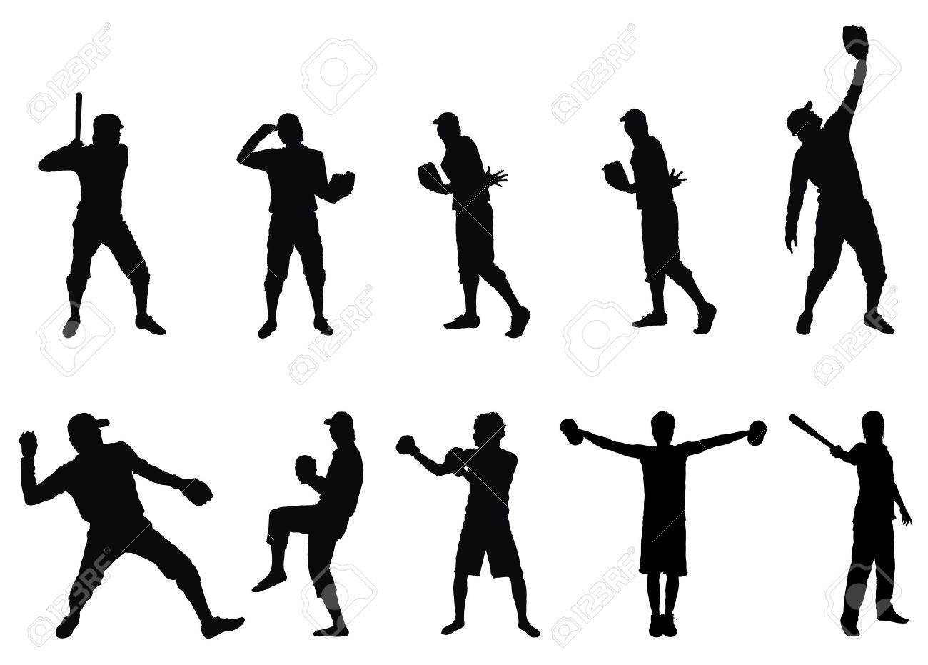 Silhouettes of athletes and sportsmen Stock Vector - 7773844