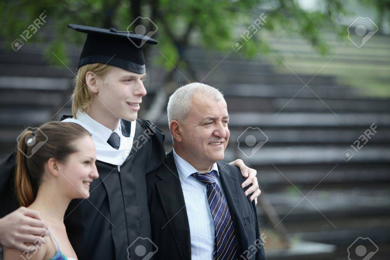 Graduate and his family Stock Photo - 7835119