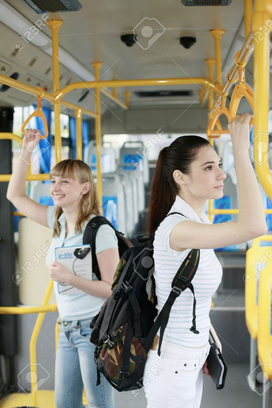Women travelling in a bus Stock Photo - 8190065