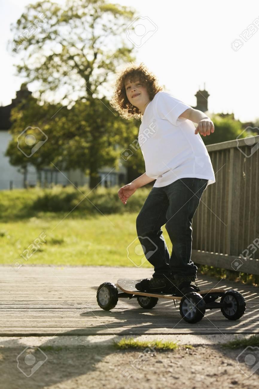 Boy on skateboard Stock Photo - 8606111