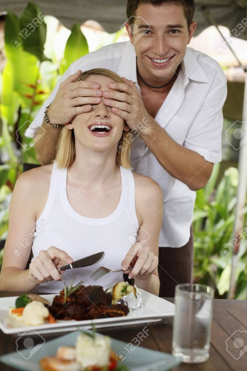 Man covering woman's eyes Stock Photo - 8606149