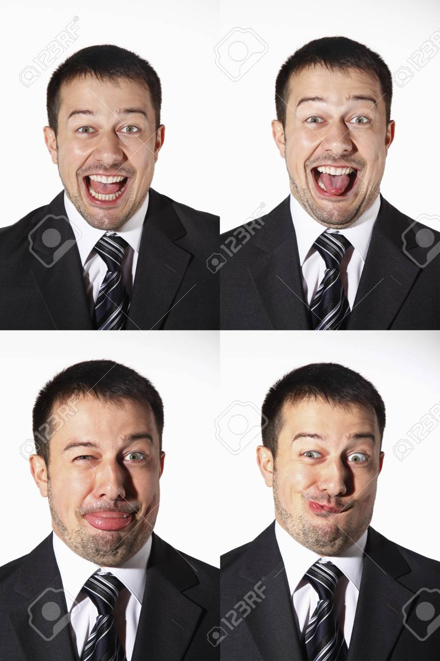 Businessman with various expressions Stock Photo - 8606187