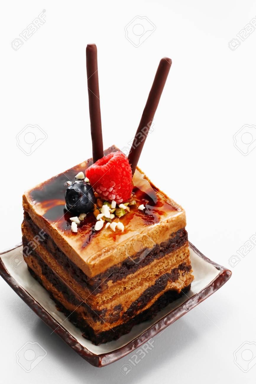 Chocolate coffee layered cake Stock Photo - 9521408