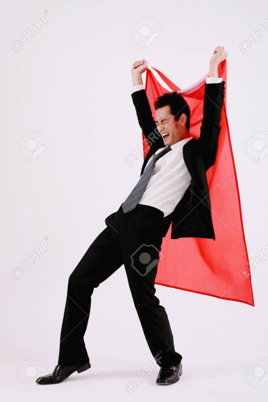 Businessman celebrating his success Stock Photo - 9604336