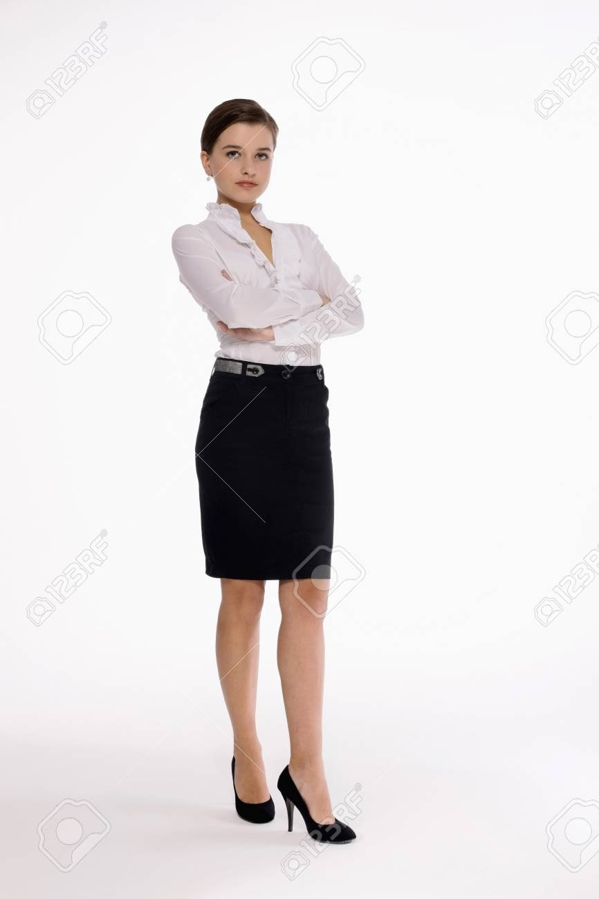 Businesswoman standing with arms crossed Stock Photo - 9605132