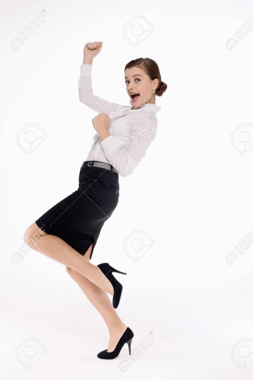 Businesswoman celebrating her success Stock Photo - 9604877