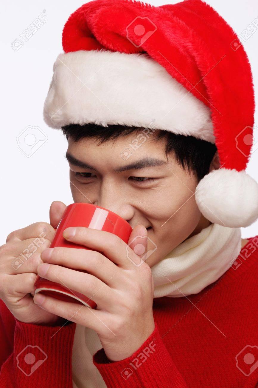 Man enjoying a cup of hot coffee Stock Photo - 9678796