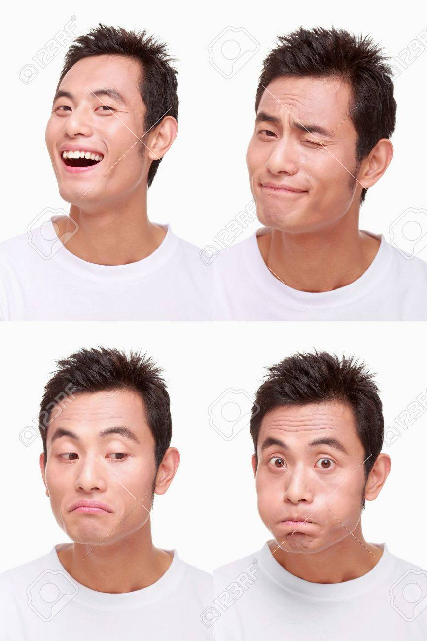 Montage of man pulling different expressions Stock Photo - 9901014