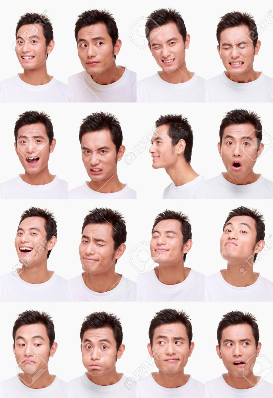 Montage of man pulling different expressions Stock Photo - 9901055