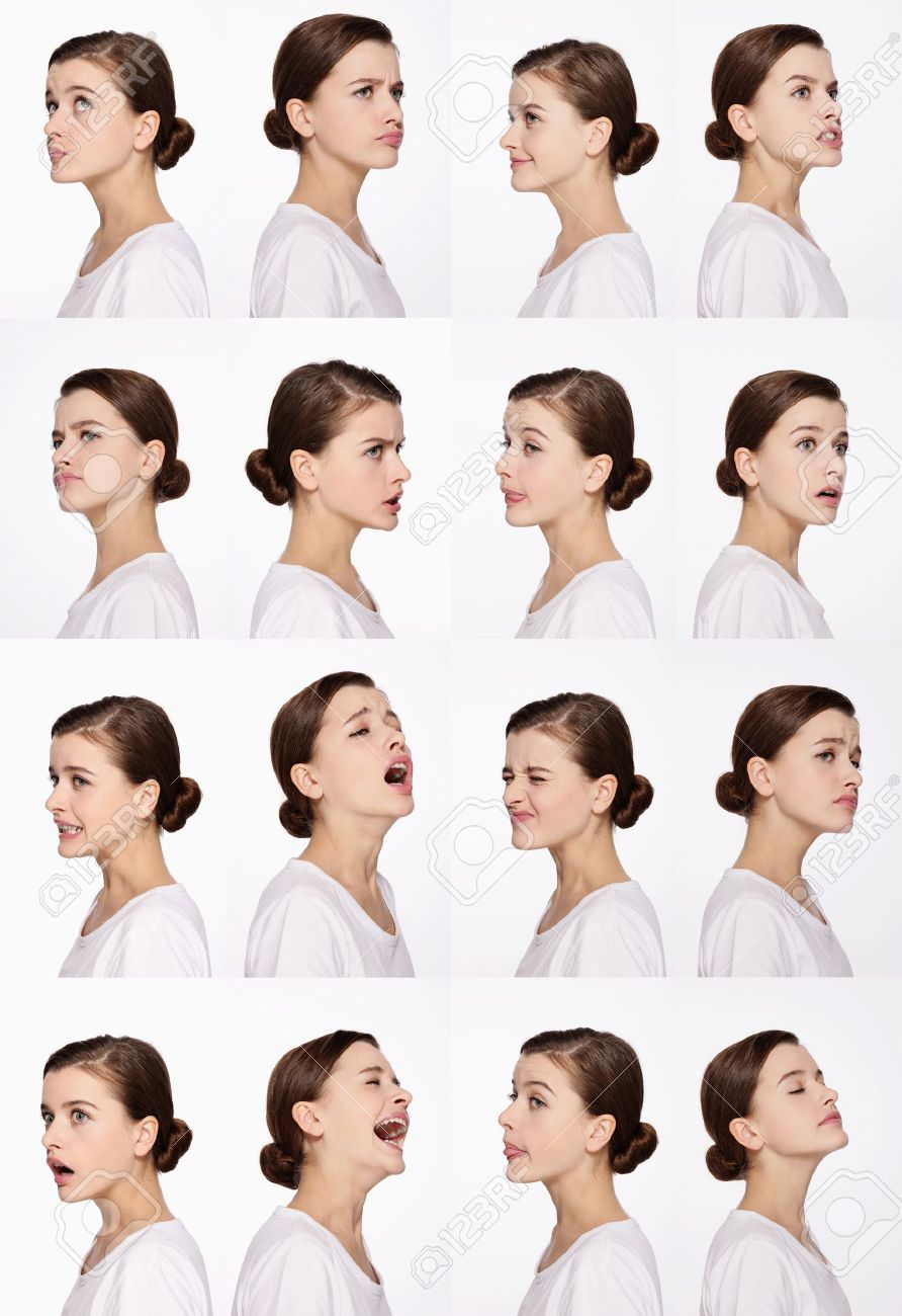 Montage of woman pulling different expressions Stock Photo - 9901024