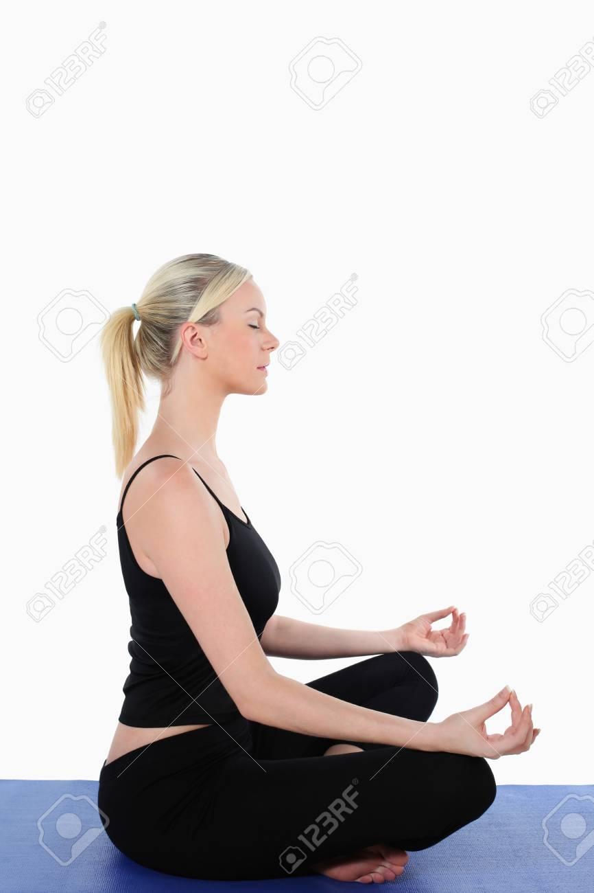 Woman meditating Stock Photo - 9900820
