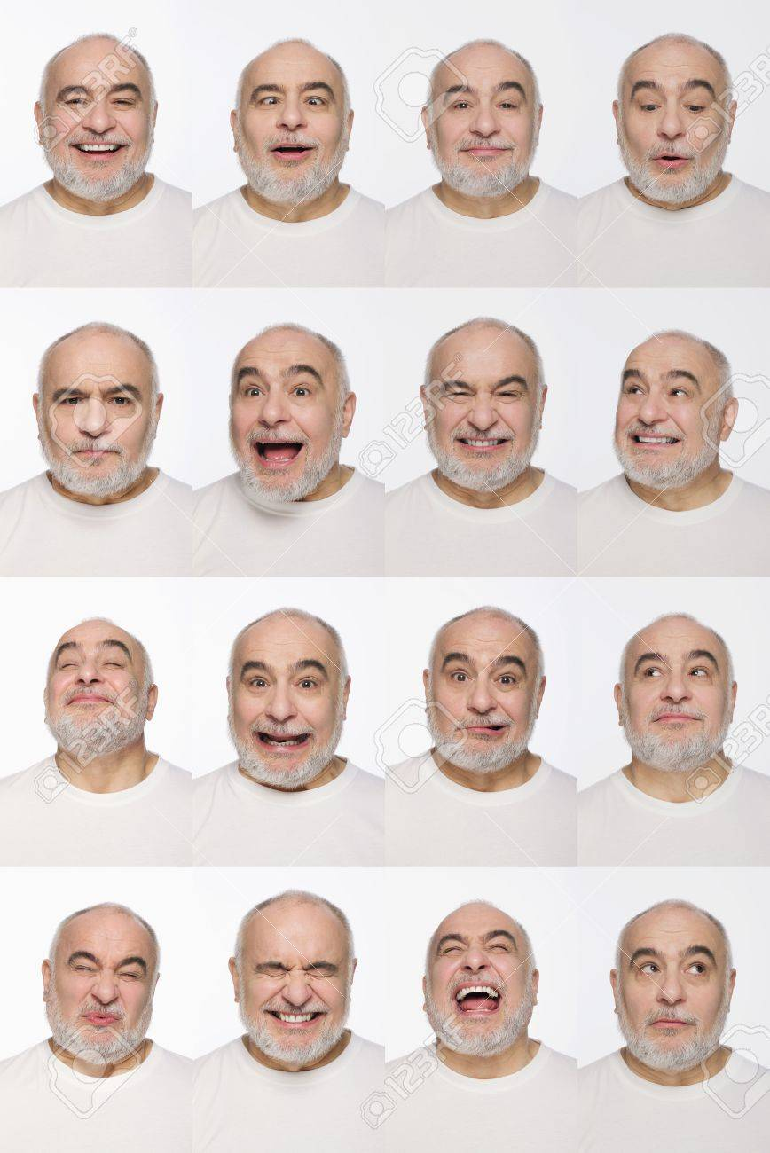 Montage of man pulling different expressions - 13148895