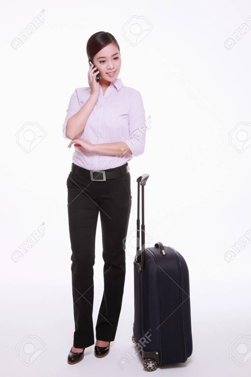 Businesswoman talking on the mobile phone Stock Photo - 13374558