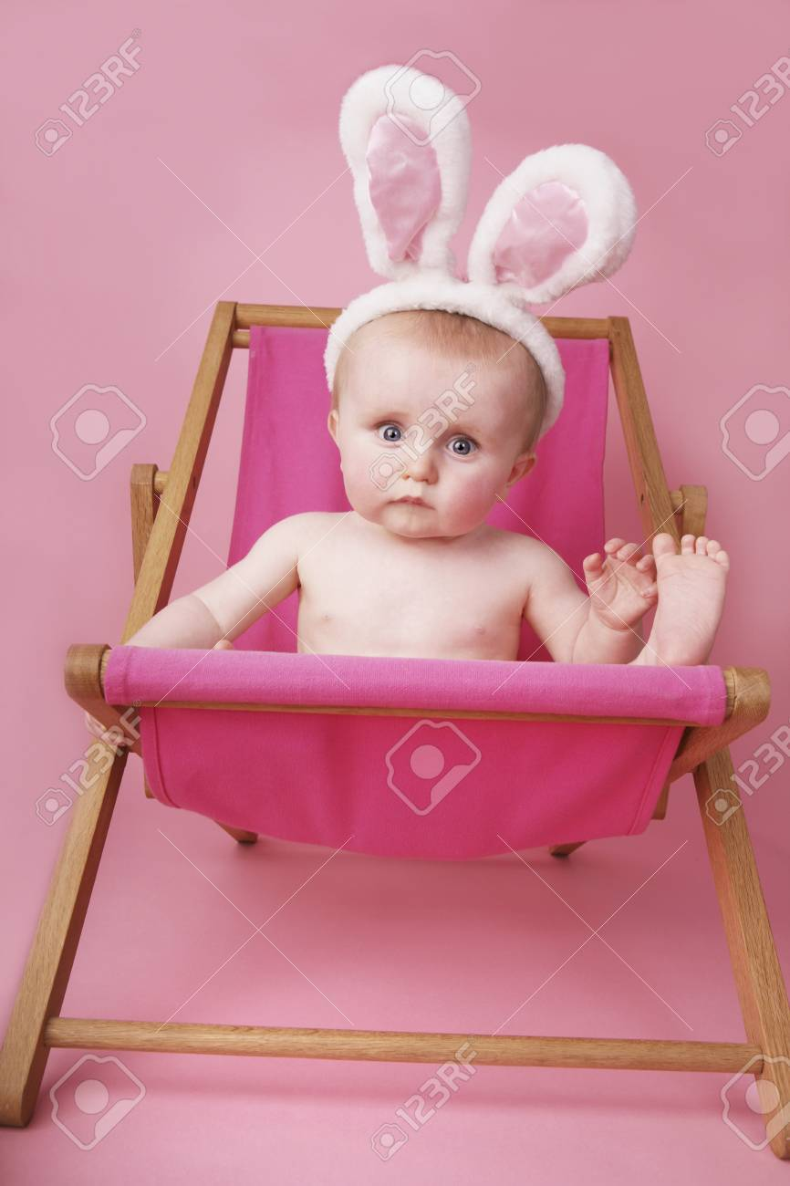 Magnificent Baby Boy With Bunny Ears Relaxing On Lounge Chair Creativecarmelina Interior Chair Design Creativecarmelinacom