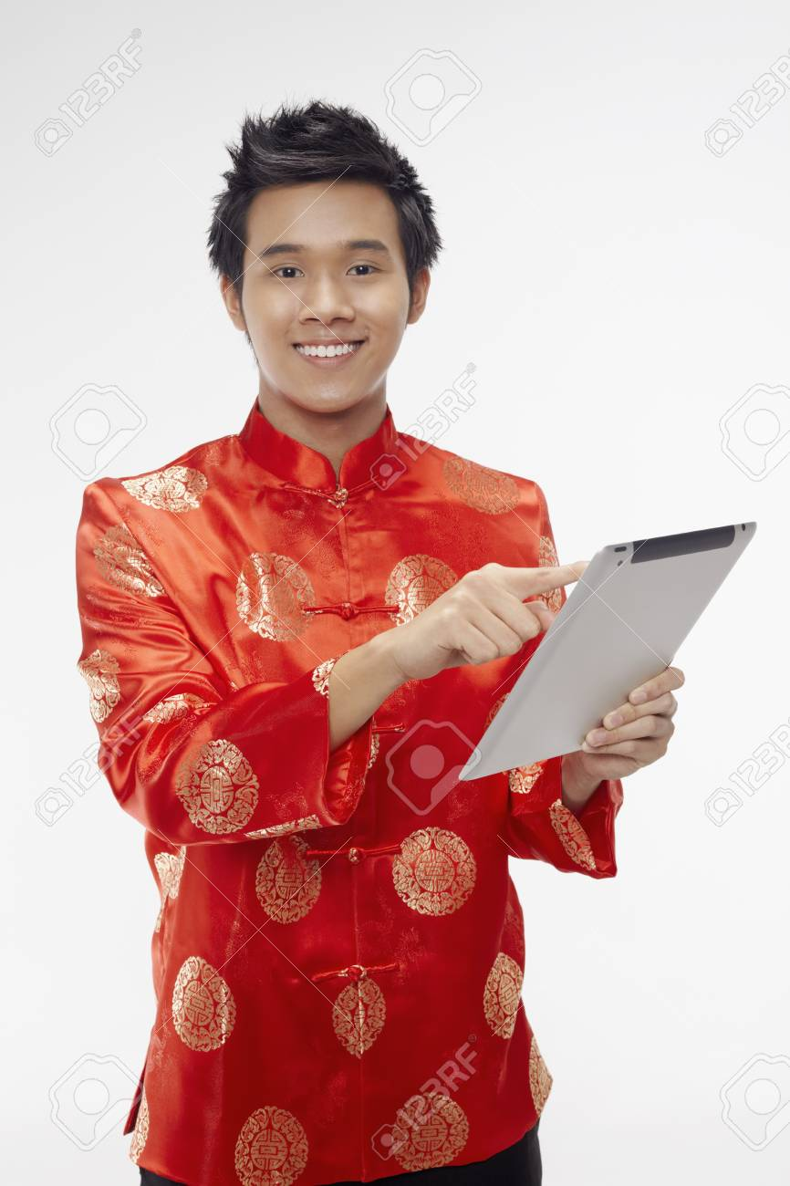 Man using digital tablet Stock Photo - 17128865