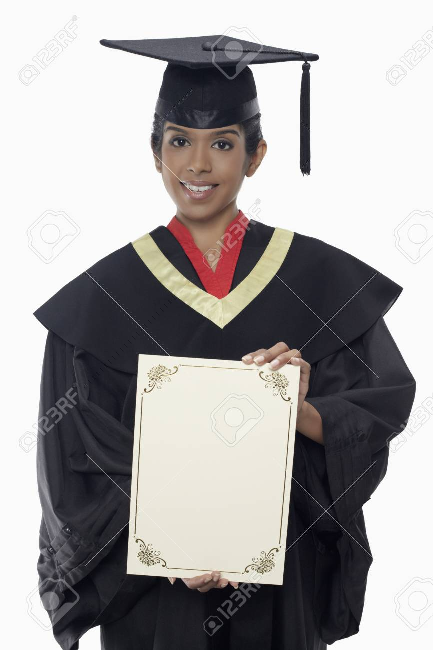 b299fd5beb1 en graduación celebración certificado blanco traje de en archivo Mujer de  Foto qYw6xFtg