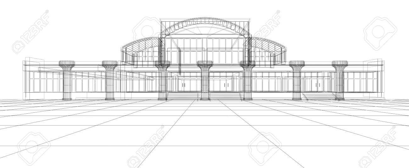abstract 3d design sketch of office building stock photo 9366515 abstract 3d office building