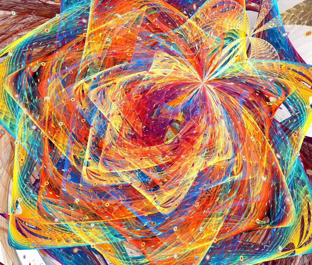 Fractal  Conceptual background with motion  Swirled light Stock Photo - 15304094