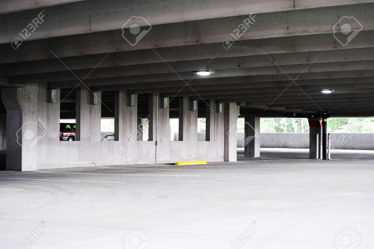 empty parking lot interior - 56793696