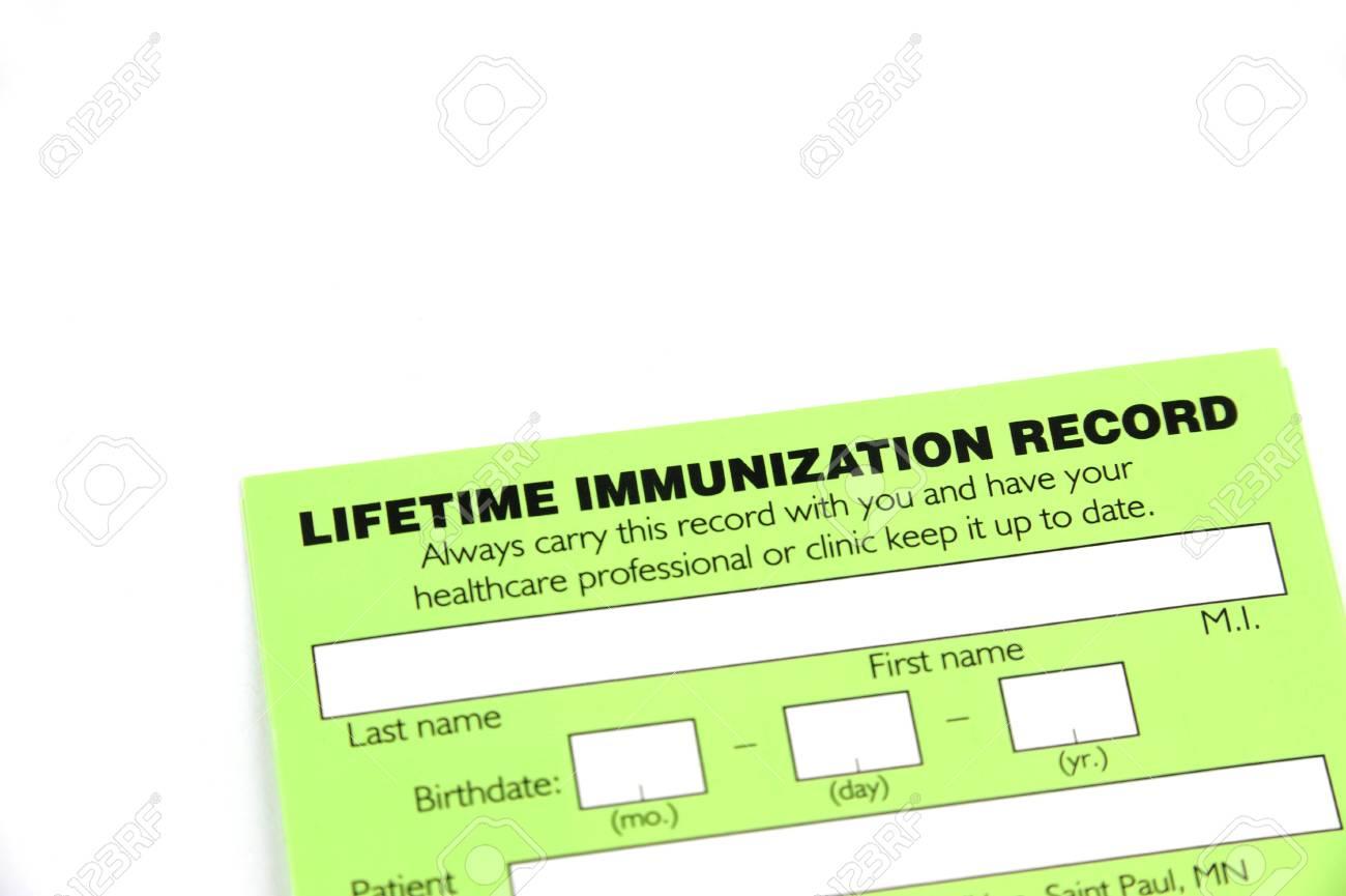 blank immunization form