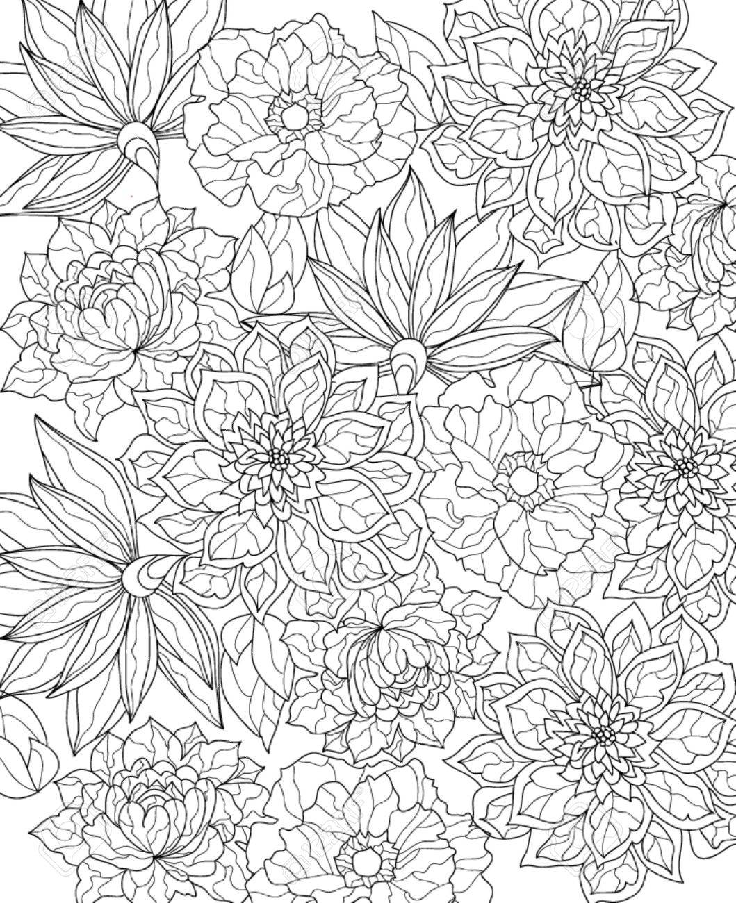 Hand Drawn Coloring Page Royalty Free Cliparts Vectors And Stock