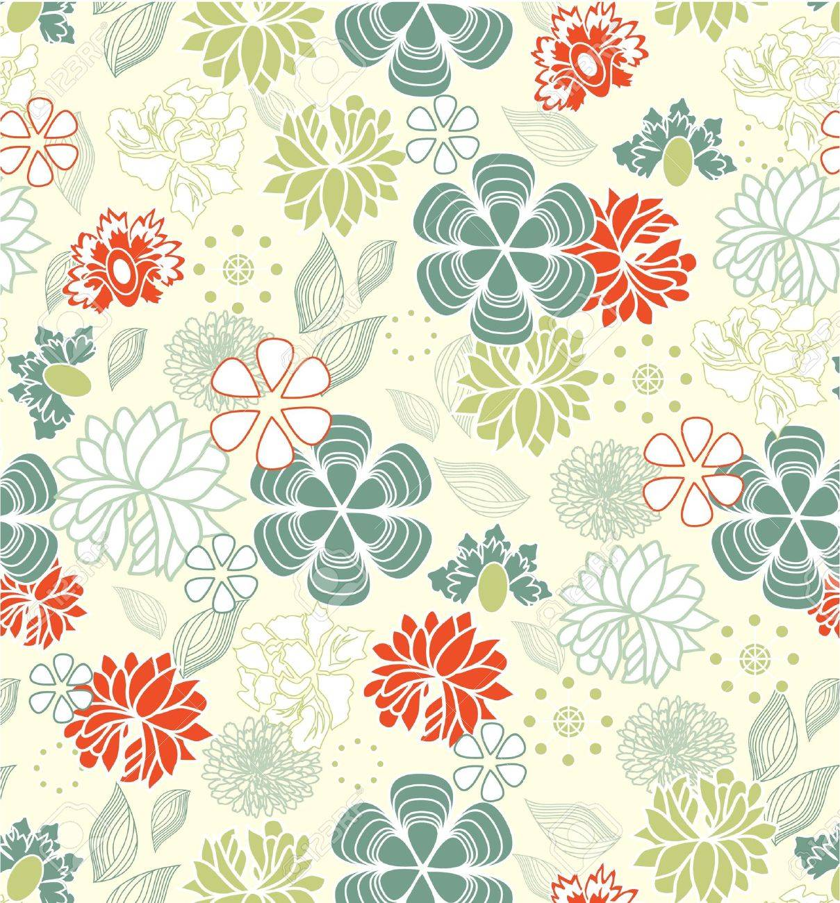 Retro floral seamless background,pattern Stock Vector - 15402046