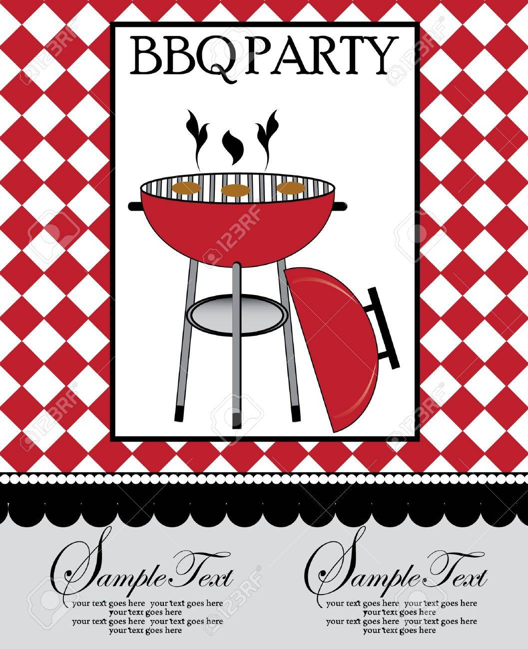 bbq party invitation royalty free cliparts vectors and stock