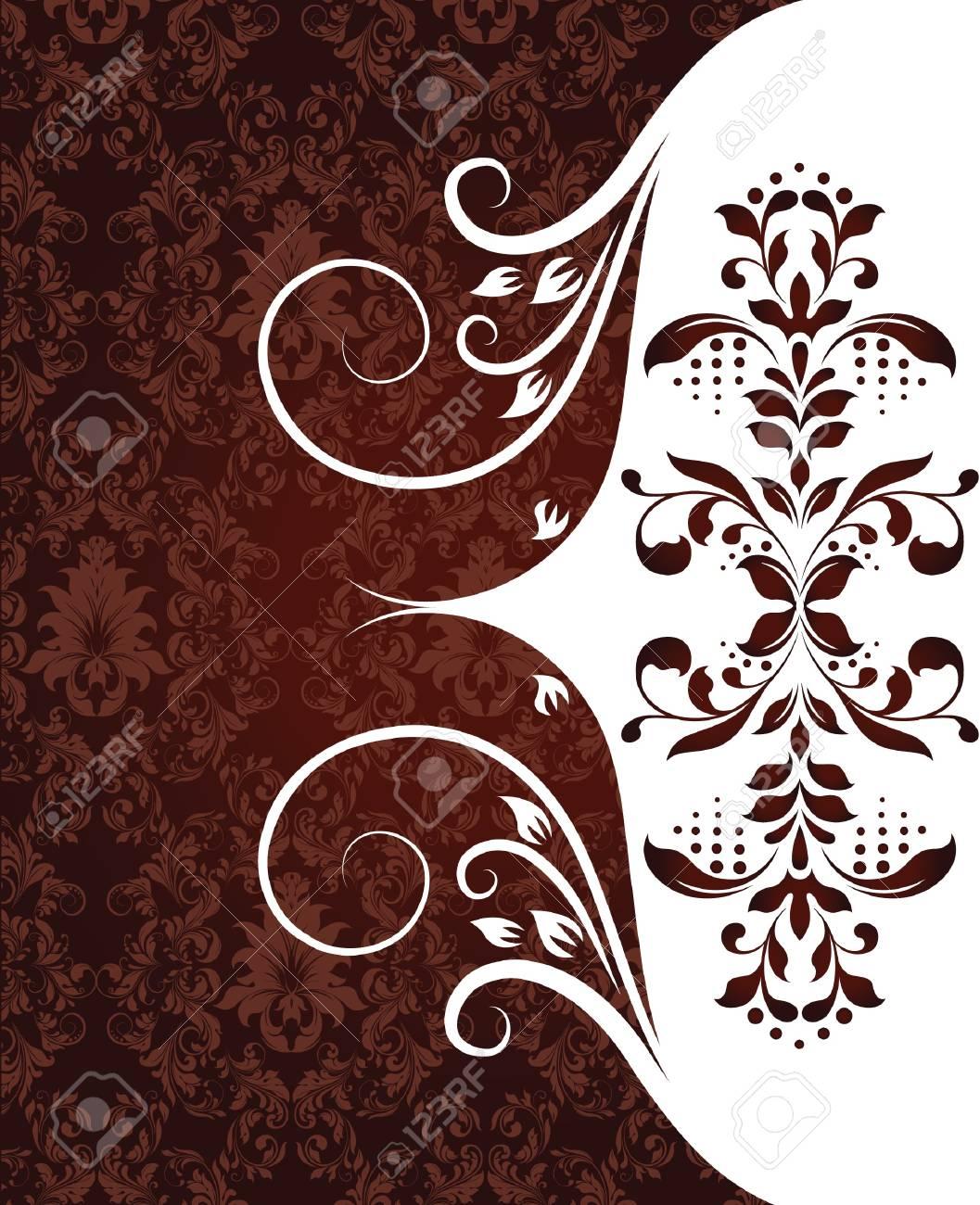 vintage damask invitation card Stock Vector - 18066753